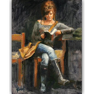Vitalwalls Portrait Painting Canvas Art Print.Western-305-30cm