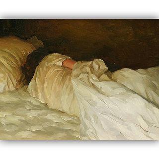 Vitalwalls Portrait Painting Canvas Art Print.Western-308-30cm