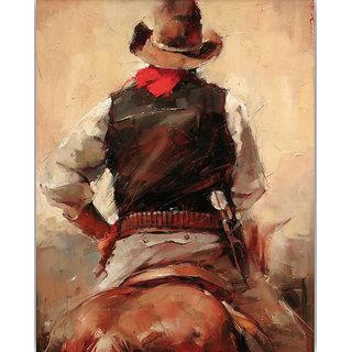 Vitalwalls Portrait Painting Canvas Art Print.Western-389-60cm