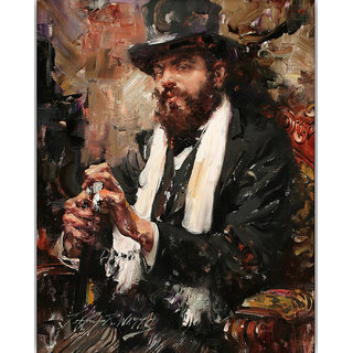 Vitalwalls Portrait Painting Canvas Art Print,on Wooden FrameWestern-390-F-30cm