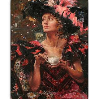 Vitalwalls Portrait Painting Canvas Art Print.Western-391-30cm