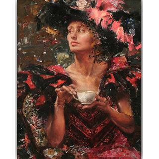 Vitalwalls Portrait Painting Canvas Art Print,on Wooden FrameWestern-391-F-45cm