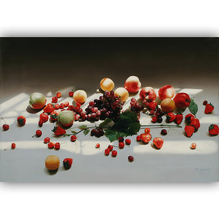 Vitalwalls Still Life Painting Canvas Art Print,Wooden Frame.Static-30cm0-F-45cm