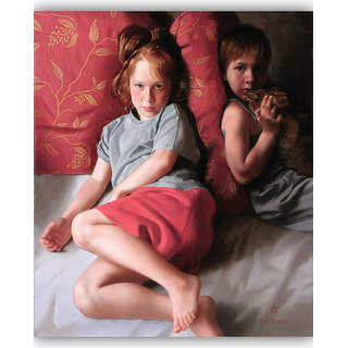 Vitalwalls Portrait Painting Canvas Art Print.Western-089-60cm