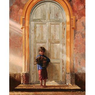 Vitalwalls Portrait Painting Canvas Art Print.Western-091-60cm