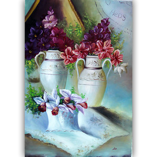 Vitalwalls Still Life Painting Canvas Art Print ,Wooden Frame.Static-158-F-60cm