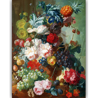 Vitalwalls Still Life Painting Canvas Art Print ,Wooden Frame.Static-090-F-45cm
