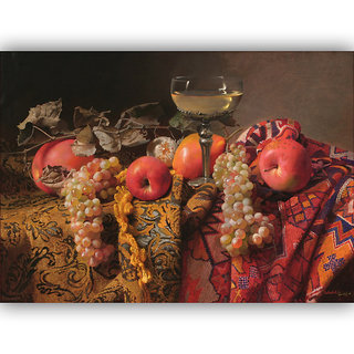 Vitalwalls Still Life Painting Canvas Art Print,Wooden Frame.Static-205-F-45 cm