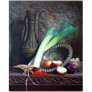 Vitalwalls Still Life Painting  Canvas Art Print.Static-445-30cm