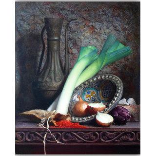 Vitalwalls Still Life Painting  Canvas Art Print.Static-445-60cm