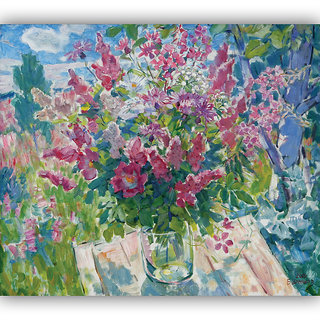 Vitalwalls Still Life Painting  Canvas Art Print,Wooden Frame.Static-447-F-60cm