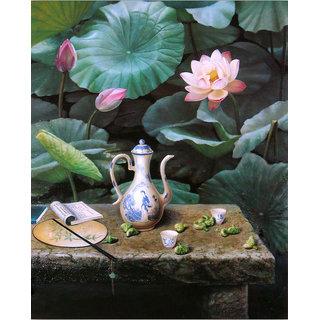 Vitalwalls Still Life Painting  Canvas Art Print,Wooden Frame.Static-462-F-45cm