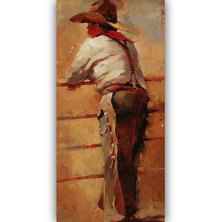 Vitalwalls Portrait Painting Canvas Art Print.Western-422-45cm