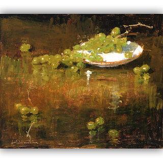 Vitalwalls Still Life Painting Canvas Art Print ,Wooden Frame.Static-125-F-60cm