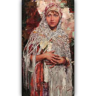 Vitalwalls Portrait Painting Canvas Art Print.Western-414-60cm