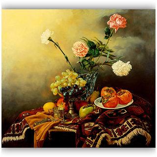 Vitalwalls Still Life Painting Canvas Art Print ,Wooden Frame.Static-129-F-45cm