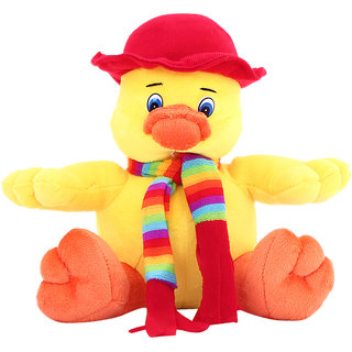 dealBindaas Sweet Duck Stuff Animal 20 Cms Yellow