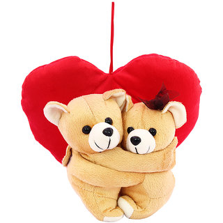 dealBindaas Huggies With Heart Valentine Stuff Teddy Brown