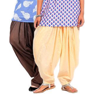 Brandtrendz Set Of 2 Cotton Patiyala Salwar (SsalwarChocoLemon)