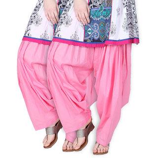 Brandtrendz Set Of 2 Cotton Patiyala Salwar (SsalwarBabypinkBabypink)