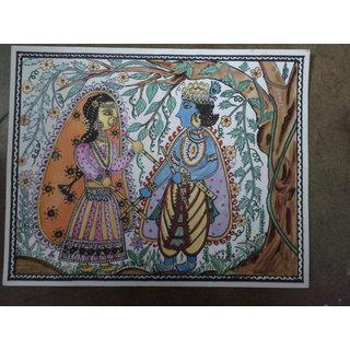 Madhubani Painting - Radha Krishna