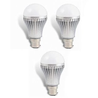 LED BULB 5W BRIGHT WHITE LIGHT LED BULB SAVING ENERGY 1 SET OF 3 PCS.