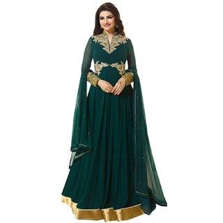 Vibhuti Womens Georgette Straight Designer Salwar Suit Set