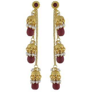 Fashion Jewellery Attractive Pearl Copper Jhumki Earring