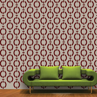 ARHAT STENCILS FOR WALLS PVC CLEAR ABSTRACT ASR-E18