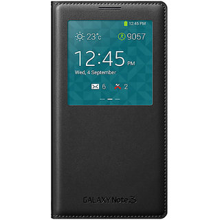 Samsung Caller ID Flip Cover For Samsung Galaxy Note 3 Neo (Black)