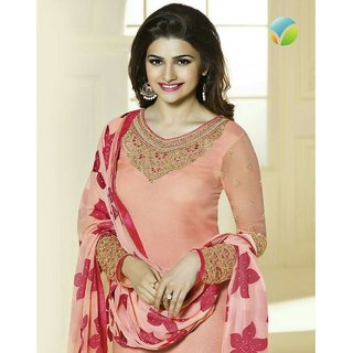 Sarvam Peach Prachi - Dress Material by Sarvam - Online Shopping for Clothing by