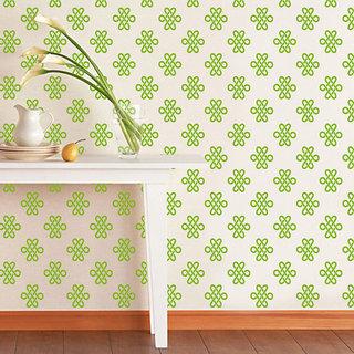 ARHAT STENCILS FOR WALLS PVC CLEAR DAMASK ASR-E23