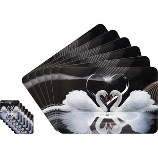 Dream Care Love Collection Printed Table Mats - (Set of 6pcs + 6Pcs Coaster)