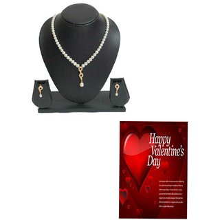 Unique Pearl Set with Valentine wish for your Lady Love