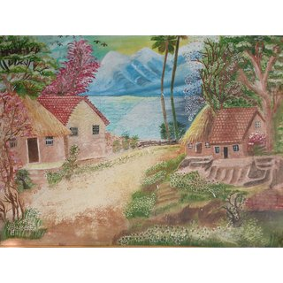 House Oil Canvas Painting