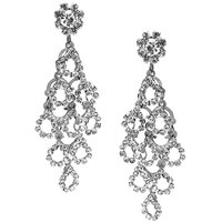 JEWELZ Silver Jhumka American Diamonds Earrings