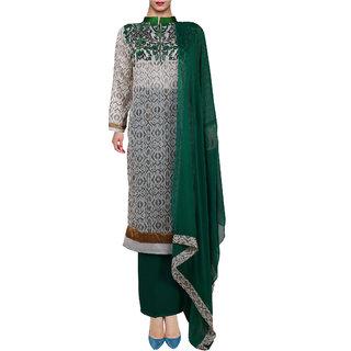 Gold Print Georgette Semi Stitched Pakistani Suit