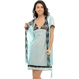Clovia 2 Pcs Sexy Nightwear & Robe Set