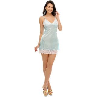 Clovia Sky Blue Sexy Short Nightdress