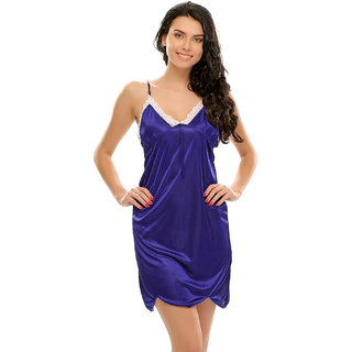 Clovia Royal Blue Sexy Short Nightdress