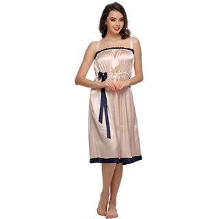 Clovia Sexy Short Nightdress In Peach