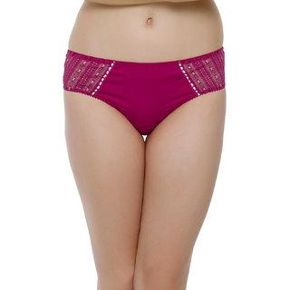 Clovia Polymide Bikini In Hot Pink