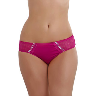 Clovia Polymide Bikini In Pink