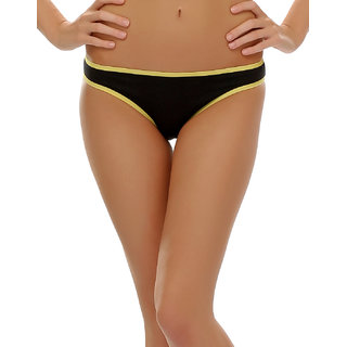 Clovia Funky Message Bikini In Black