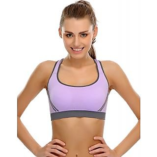 Clovia Seamless Padded Sports Bra With  Back Straps