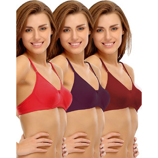 f985653ced Buy Clovia Cotton Rich Non-Padded Wirefree T-Shirt Bra In Multicolor ...