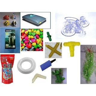 Aquarium full kit combo pack of 40 pieces