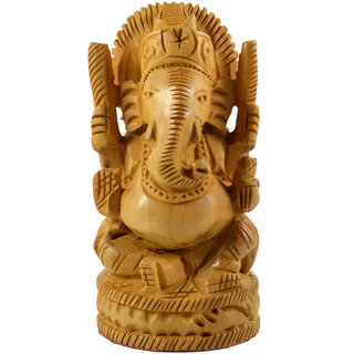 Craftuno Handcrafted Wooden Ganesha(43202)