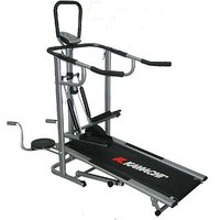 KAMACHI HEAVY WEIGHT LATEST MANUAL TREADMILL 4 IN 1