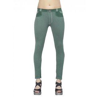 0939dd3dd7 Buy Bellafonte green comfortable Jeggings Online @ ₹2799 from ShopClues